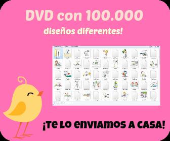 Comprar DVD con diseños bordados