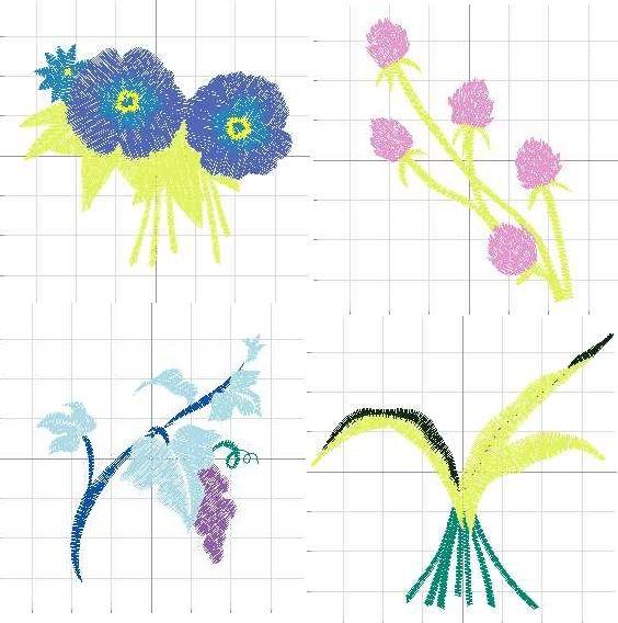 diseños de flores